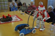 Besuch des Roboters